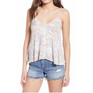 Ivory Tapestry Spaghetti Strap Top